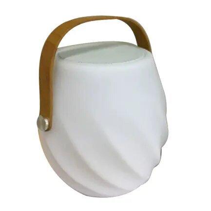 Lámpara LED altavoz bluetooth PE blanco
