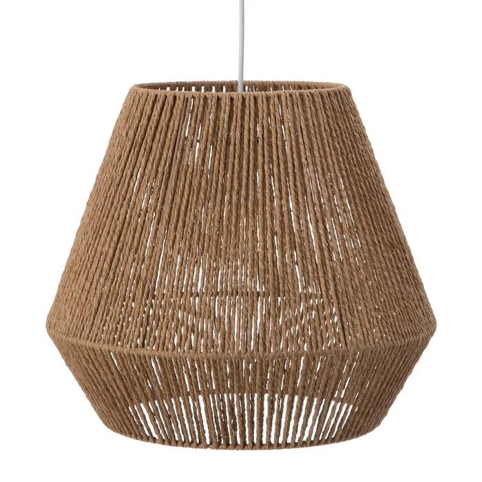 Lámpara techo de cuerda natural