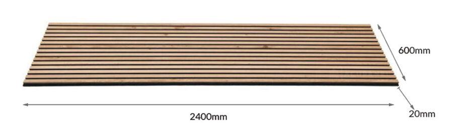 Panel de madera vertical MEDIDAS