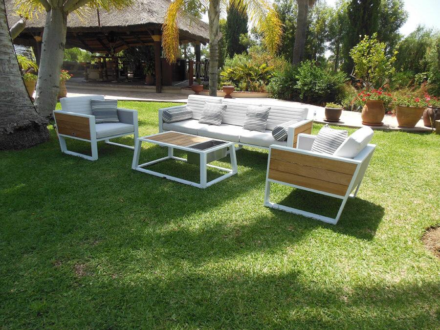 Sofá de 3 cuerpos Jardín Green